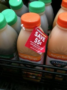 Coupon hanging from bottle - Owala